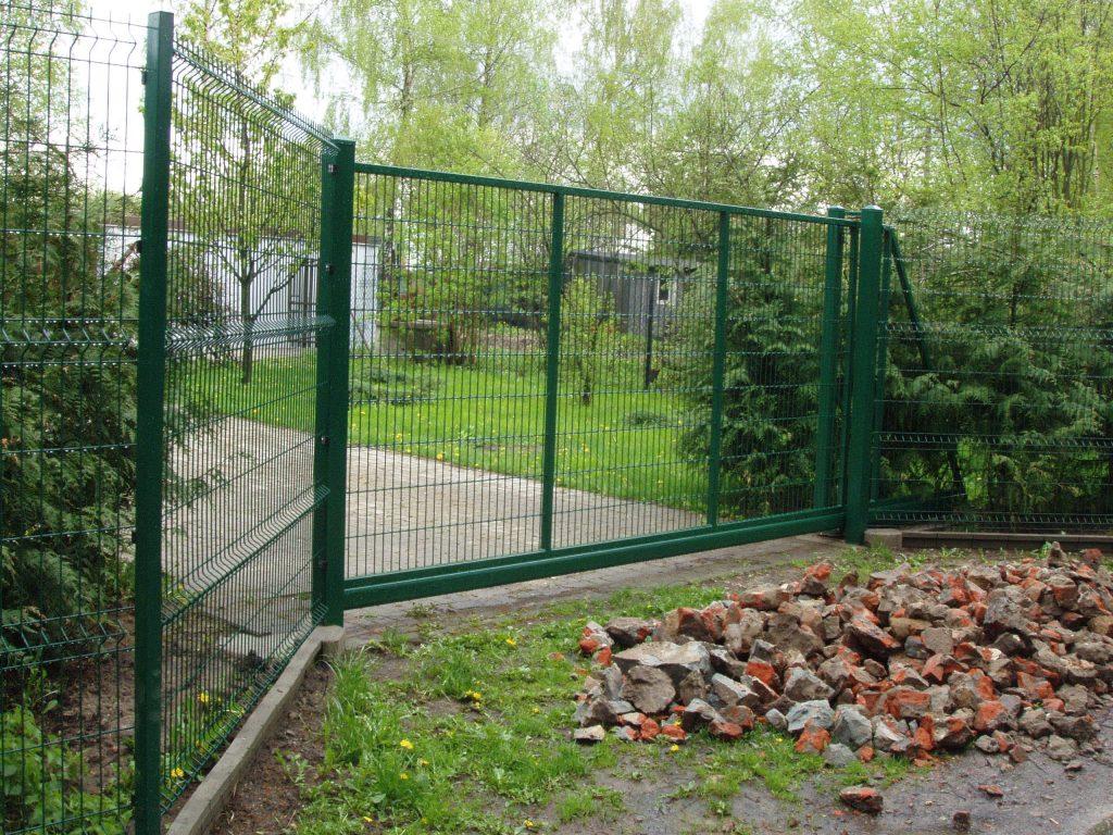 Brama przesuwna wzór AW.VA.55 - kolor RAL_6005